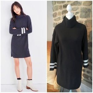 Madewell bell sleeve turtle neck sweater dress